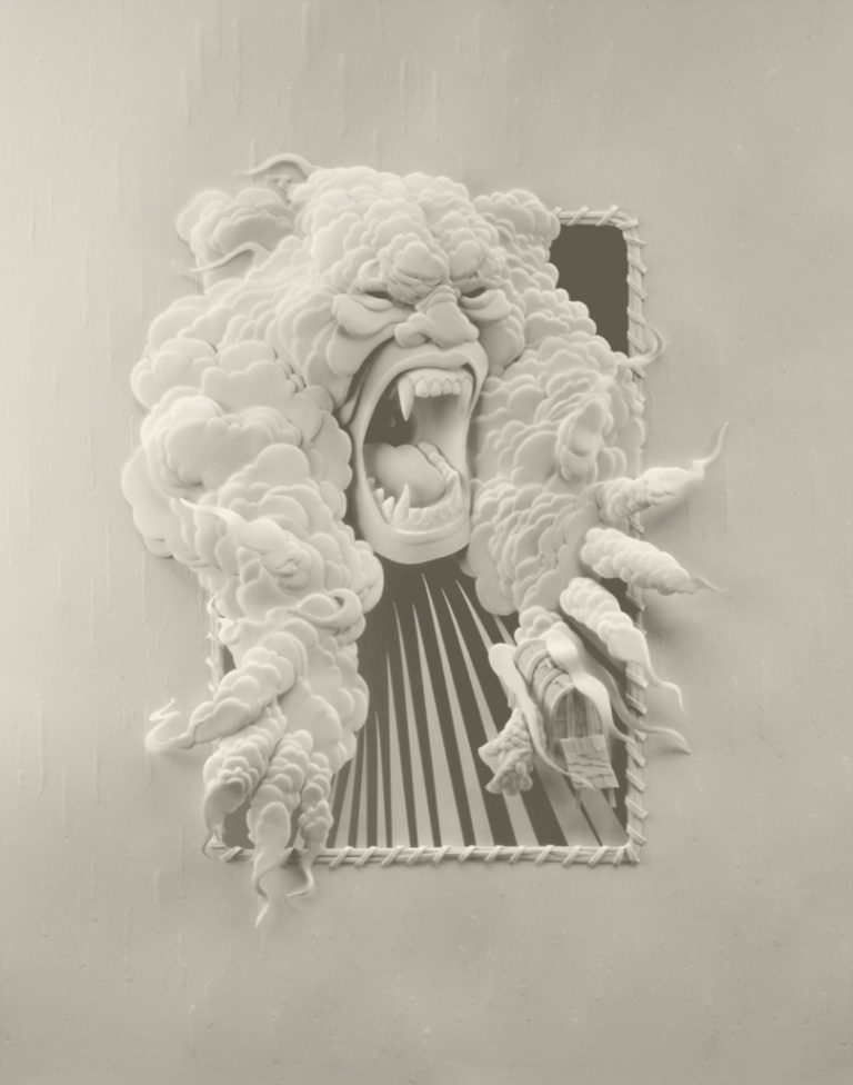 Calvin-Nicholls-Books-Paper-Sculpture-series-13