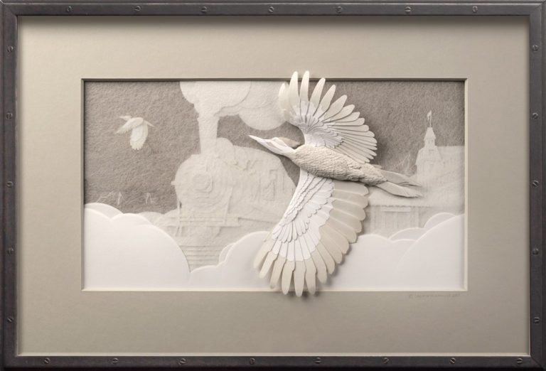 Calvin-Nicholls-Paper-Sculpture-Gallery-Pileated