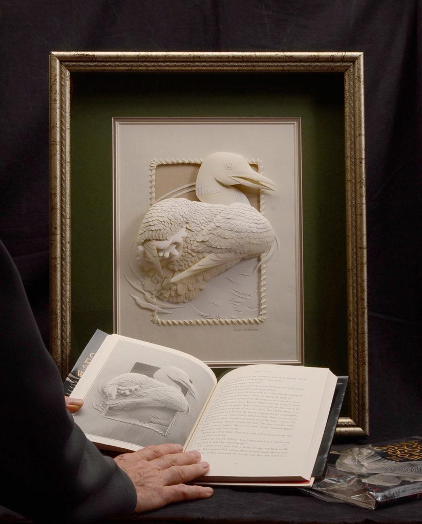 Calvin-Nicholls-Paper-Sculpture-WB4Loon