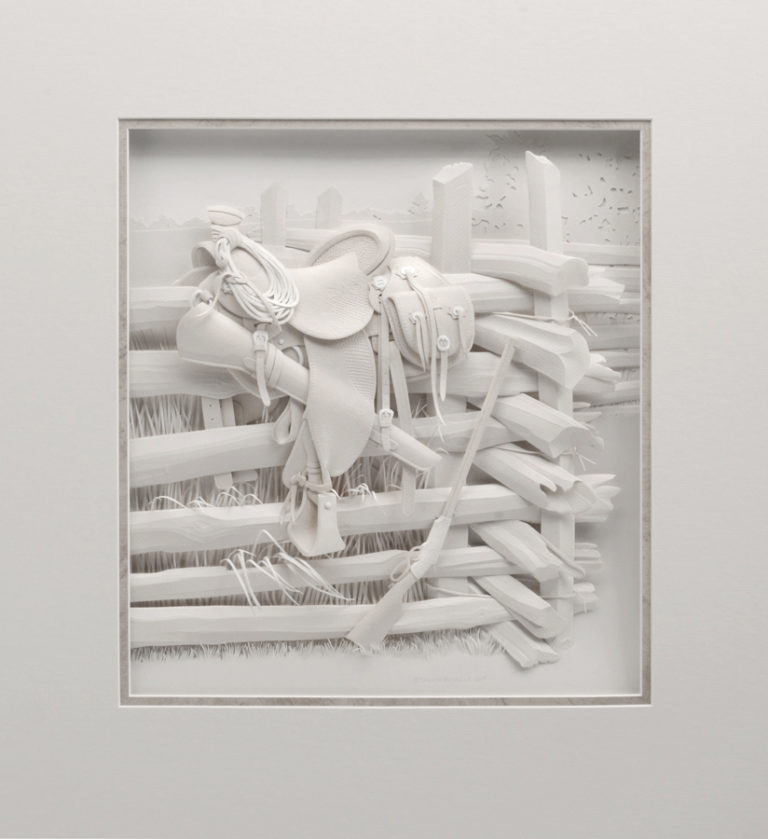Calvin-Nicholls-Paper-Sculpture-Studio-Saddle-art