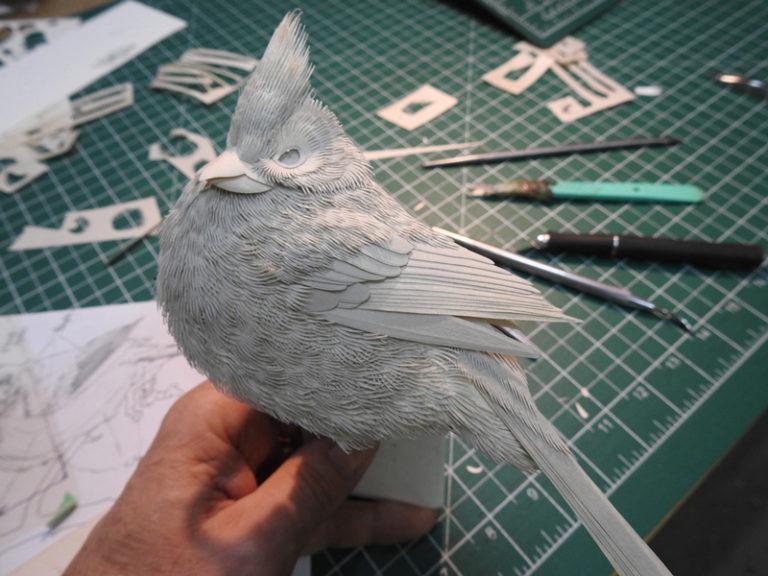 Calvin-Nicholls-Paper-Sculpture-Studio-cardinal