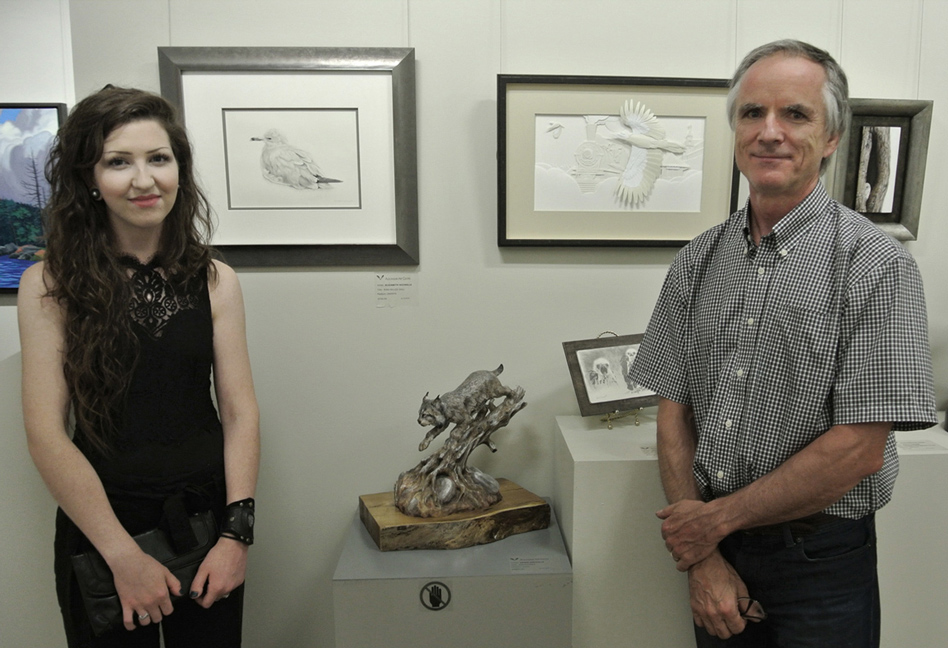 Calvin Nicholls and His Daughter Elizabeth
