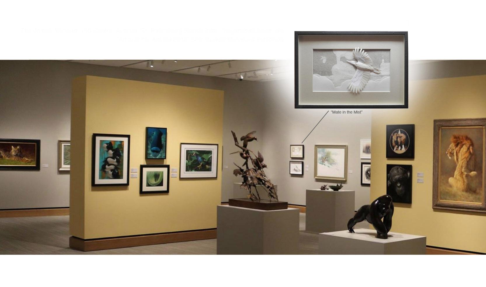Calvin Nicholls Paper Sculpture Art James Museum