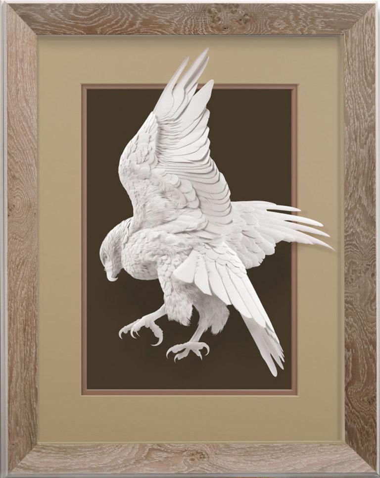 Calvin Nicholls Paper Sculpture Art Woodson