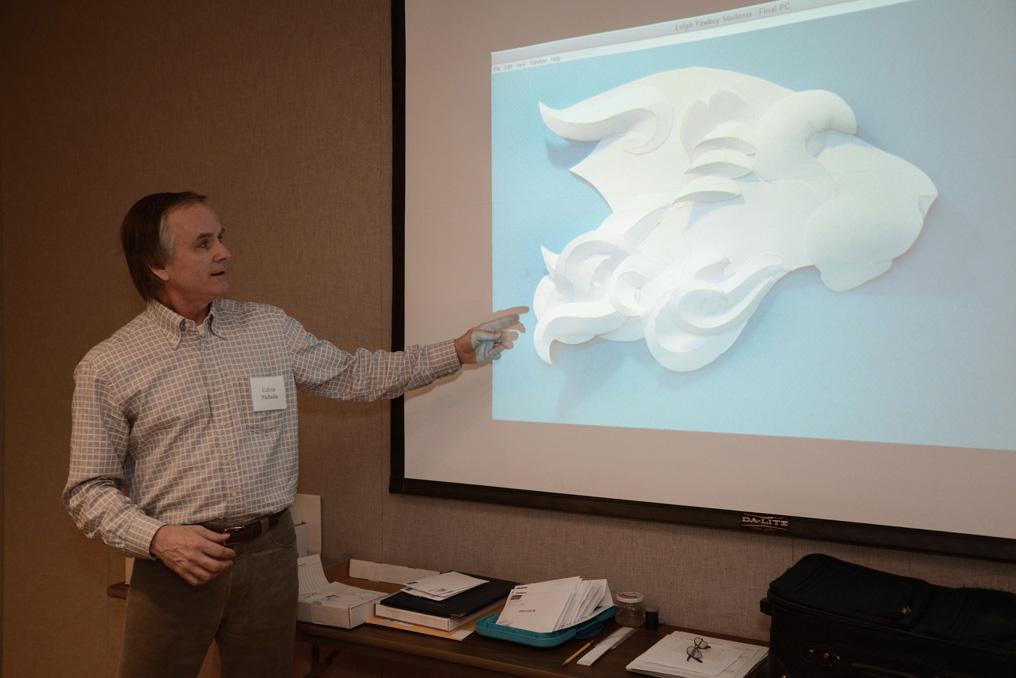 Calvin Nicholls Paper Sculpture Art presentation